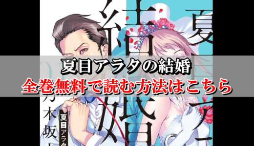 【夏目アラタの結婚】全巻無料で読む方法はこちら!最新刊までまとめ買い